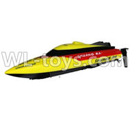 Double Horse 7011 RC boat parts ,Shuang Ma dh 7011 parts-23 Only Whole boat-Yellow(Not include the charger and Transmitter)