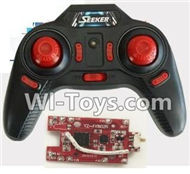 FAYEE FY802 Parts-25 Transmitter & Circuit board-Red,FAYEE FY802 RC Quadcopter Drone Spare Parts FY802 Replacement Accessories Climbing & Walking RC Quadcopter Running Climbing Mini Drone