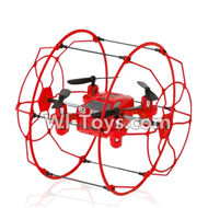 FAYEE FY802 Parts-29 BNF(Only the whole quadcopter,No battery,No charger,No transmitter)-Red,FAYEE FY802 RC Quadcopter Drone Spare Parts FY802 Replacement Accessories Climbing & Walking RC Quadcopter Running Climbing Mini Drone