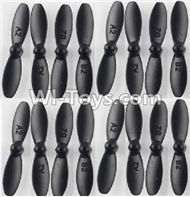 Fayee FY804 Parts-04 Propellers,Main rotor blades(16pcs),FY804 RC Quadcopter Drone Spare Parts FY804 Replacement Accessories