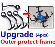 Fayee FY804 Parts-06 Upgrade outer protect frame(4pcs),FY804 RC Quadcopter Drone Spare Parts FY804 Replacement Accessories