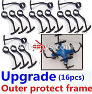 Fayee FY804 Parts-07 Upgrade outer protect frame(16pcs),FY804 RC Quadcopter Drone Spare Parts FY804 Replacement Accessories