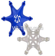 Fayee FY805 Parts-01 Upper and bottom shell cover-Blue,Fayee FY805 RC Hexacopter Drone Spare Parts,FY805 Quadcopter Replacement Accessories