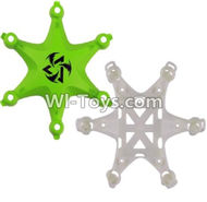 Fayee FY805 Parts-02 Upper and bottom shell cover-Green,Fayee FY805 RC Hexacopter Drone Spare Parts,FY805 Quadcopter Replacement Accessories
