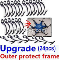 Fayee FY805 Parts-07 Upgrade outer protect frame(24pcs),Fayee FY805 RC Hexacopter Drone Spare Parts,FY805 Quadcopter Replacement Accessories