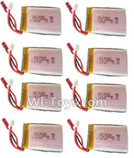 HuaJun W606-2 Parts-33 Official 7.4V 1200MAH Battery(8pcs),HuaJun Toys W606-2 RC Quadcopter Drone Spare Parts,HJ Toys W606-2 Accessoriess Replacement