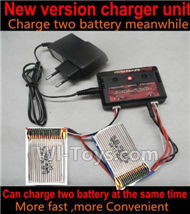 HuaJun W606-3 Parts-29 Upgrade charger and Balance charger-Can charge two battery at the same time(Not include the 2X battery),HuaJun Toys W606-3 RC Quadcopter Drone Spare Parts,HJ Toys W606-3 Accessoriess Replacement