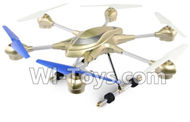 HuaJun Toys HJ816 HJ817 Hexacopter Drone-Upgrade configuration(Include the 5.8G Image transmission Receiving Monitor,30,000,000 Pixels Camera unit & Holder & USB Charger)