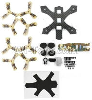 JJPRO P130 Spare Parts-01 Main Drone frame with screws & Propellers(Yellow),JJRC JJPRO P130 RC Quadcopter Drone Spare Parts Replacement Accessories