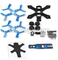 JJPRO P130 Spare Parts-02 Main Drone frame with screws & Propellers(Blue),JJRC JJPRO P130 RC Quadcopter Drone Spare Parts Replacement Accessories