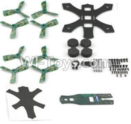 JJPRO P130 Spare Parts-03 Main Drone frame with screws & Propellers(Green),JJRC JJPRO P130 RC Quadcopter Drone Spare Parts Replacement Accessories