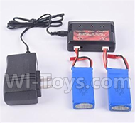 YiZhan X6 Parts-20 Upgrade Charger unit(Can charge two battery at the same time) & 7.4v 1200MAH Battery(2pcs) For YiZhan X6 RC Quadcopter,Drone Spare parts
