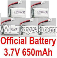 BoMing M39G Spare Parts-10-03 Official 3.7V 650mAh Battery(5pcs)-45X25X8mm,Bo Ming BoMing M39G RC Quadcopter Drone Spare Parts Replacement Accessories M39