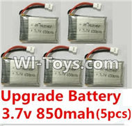 BoMing M39G Spare Parts-10-04 Upgrade 3.7v 850mah battery(5pcs)-42X25X9mm,Bo Ming BoMing M39G RC Quadcopter Drone Spare Parts Replacement Accessories M39