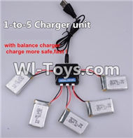 BoMing M39G Spare Parts-12-02 Upgrade 1-to-5 charger and balance charger(Not include the 5 battery),Bo Ming BoMing M39G RC Quadcopter Drone Spare Parts Replacement Accessories M39