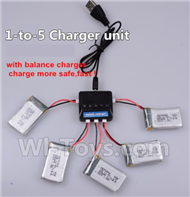 JJRC H21 Parts-21 Upgrade 1-to-5 charger and balance charger(Not include the 5 battery) For JJRC H21 H21 Quadcotper parts,H21 Drone Spare parts,2.4V UFO