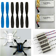 JJRC H21 Parts-29 Propellers(6pcs) & Main Motor(6pcs) & Upper and bottom shell cover & 400mah battery(2pcs) For JJRC H21 H21 Quadcotper parts,H21 Drone Spare parts,2.4V UFO