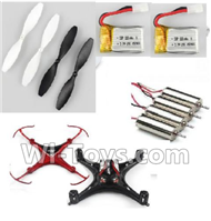 JJRC H22 Parts-21 Propellers(4pcs) & Motor(4pcs) & Upper and bottom shell cover & 220mah battery(2pcs) For JJRC H22 H22C Quadcopter Spare parts,RC drone Parts,2.4G UFO Parts