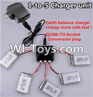 JJRC H29 H29C H29W H29G Parts-19 Upgrade 1-to-5 charger and balance charger & USB-TO-socket Conversion plug(Not include the 5 battery) For JJRC H29 H29C H29W Quadcopter Spare parts,RC drone Parts,2.4G UFO Parts