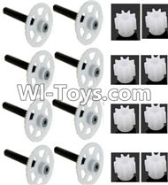 JJRC H29 H29C H29W H29G Parts-46 Main gear with hollow pipe(8pcs) & Small motor gear(8pcs) For JJRC H29 H29C H29W Quadcopter Spare parts,RC drone Parts,2.4G UFO Parts