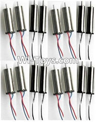 JJRC H30 H30C H30W Parts-11 Rotating Motor with red and Blue wire(8pcs) & Reversing-rotating Motor with Black and white wire(8pcs) For JJRC H30 H30C H30W Quadcopter Spare parts,H30 H30C H30W RC drone Parts,2.4G UFO Spare Parts
