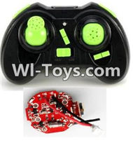 JJRC H30 H30C H30W Parts-29 Transmitter-Green & Circuit board,Receiver board For JJRC H30 H30C H30W Quadcopter Spare parts,H30 H30C H30W RC drone Parts,2.4G UFO Spare Parts