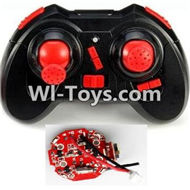 JJRC H30 H30C H30W Parts-30 Transmitter-Red & Circuit board,Receiver board For JJRC H30 H30C H30W Quadcopter Spare parts,H30 H30C H30W RC drone Parts,2.4G UFO Spare Parts