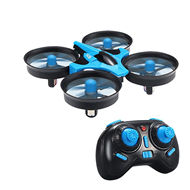 JJRC H36 RC Quadcopter Drone,JJRC H36 2.4G Gyroscope MINI Flying saucer Quadcopter flying drone-Blue