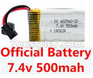 JJRC H8C H8D Parts-04 Official F183 Battery 7.4v 500mah 15C with SM plug For JJRC H8C H8D Quadcopter Parts,Drone parts,Camera spare parts