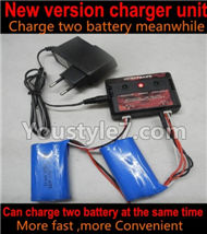 JJRC H8C H8D Parts-10 New version charger,Can charger two battery at the same time-(Can only charge the upgrade 1000mah battery) For JJRC H8C H8D Quadcopter Parts,Drone parts,Camera spare parts