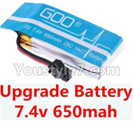 JJRC H8C H8D Parts-29 Upgrade 7.4v 650mah battery for DFD F182 F183 Drone For JJRC H8C H8D Quadcopter Parts,Drone parts,Camera spare parts