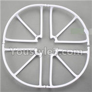 JJRC H8C H8D Parts-32 Outer protect frame(4pcs)-White For JJRC H8C H8D Quadcopter Parts,Drone parts,Camera spare parts
