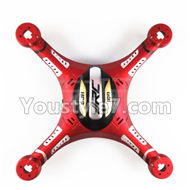 JJRC H8C H8D Parts-38 Upper and bottom shell cover,Canopy-(Red) For JJRC H8C H8D Quadcopter Parts,Drone parts,Camera spare parts