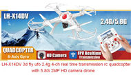 Lead Honor LH-X14DV RC Quadcopter Drone-Option 4(Include the 2,000,000 Pixels camera and Image transmission Receiving Monitor)
