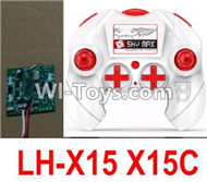Lead Honor LH-X15 X15C X15WF Spare Parts-38 Transmitter,Remote Control & Circuit board,Receiver board(Can only be used for LH-X15 X15C Quadcopter),Lead Honor LH-X15 X15C X15DV X15WF RC Quadcopter Drone Spare Parts Accessories,LH-X15 Replacement parts