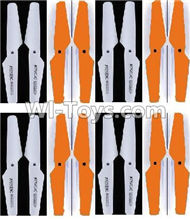 Lead Honor LH-X16 X16C X16WF X16DV Spare Parts-26 Propellers,Main rotor blades(8X White,8X Orange),Lead Honor LH-X16 X16C X16DV X16WF RC Quadcopter Drone Spare Parts Accessories,LH-X16 Replacement parts