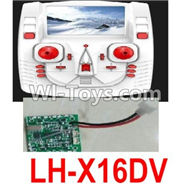 Lead Honor LH-X16 X16C X16WF X16DV Spare Parts-43 Transmitter,Remote Control & Circuit board,Receiver board(Can only be used for LH-X16DV Quadcopter),Lead Honor LH-X16 X16C X16DV X16WF RC Quadcopter Drone Spare Parts Accessories,LH-X16 Replacement parts