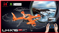 Lead Honor LH-X16WF Quadcopter-Option 3 (Include the 2,000,000 Pixels camera,and Mobile phone holder,Also include the wifi function,Can use the mobile phone to control and see the Vedio in real time,include the camera unit),Lead Honor LH-X16 X16C X16DV X1