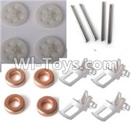 LH-X6 X6C X6DV Parts -06 Motor seat(4pcs) & Main gear(4pcs) Main shaft for the Main gear(4pcs) & Copper ring(4pcs) For Lead Honor Quadcopter rc drone parts