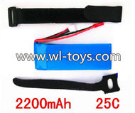 MJX X101 RC Quadcopter Parts-13 Upgrade 7.4v 2200mah 20c battery,Fly 2x time(This battery size is a little big,you need tied it on the bottom of the Quadcopter)
