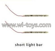 MJX X101 RC Quadcopter Parts-35 Short light bar(2pcs)