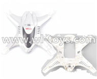 MJX X300 X300C RC Quadcopter parts-06 Upper and bottom shell cover,Upper and bottom canopy-White