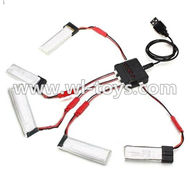 MJX X300 X300C RC Quadcopter parts-34 Upgrade 1-to-5 balance charger and USB Charger(Not include the 5x battery)