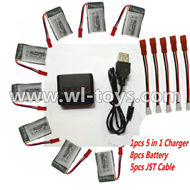 MJX X500 RC Quadcopter parts-58 Upgrade 1-to-5 balance charger and USB charger & 5pcs coversion wire & 8pcs 750mah battery