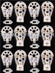 MJX X600 RC Quadcopter parts-31 Whole motor unit parts(Include the Motor seat,Motor cover,Motor seat cover)-6pcs-White