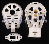 MJX X600 RC Quadcopter parts-32 Whole motor unit parts(Include the Motor seat,Motor cover,Motor seat cover)-1pcs-White