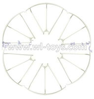 MJX X600 RC Quadcopter parts-41 Outer protect frame(6pcs)-White