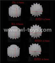MJX X600 RC Quadcopter parts-59 Small gear for the main motor,10T(Total 6pcs)
