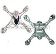 MJX X701 RC Quadcopter parts-01 Upper shell cover,Upper canopy & Bottom shell cover,Bottom canopy-Gray