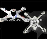 MJX X701 RC Quadcopter parts-06 Upper shell cover,Upper canopy & Bottom shell cover,Bottom canopy-White